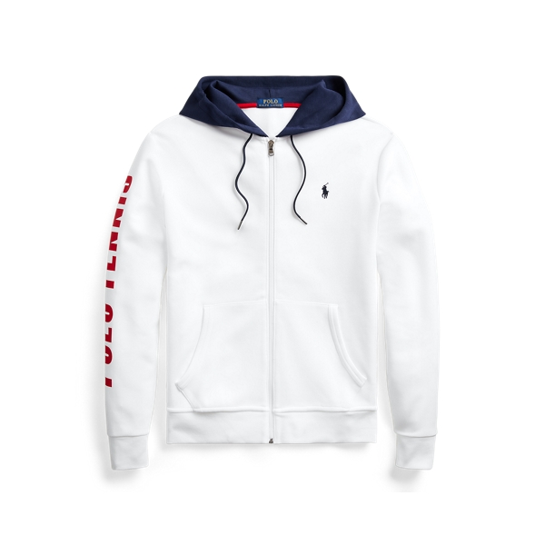 폴로 랄프로렌 Polo Ralph Lauren Polo Tennis Double-Knit Hoodie,White