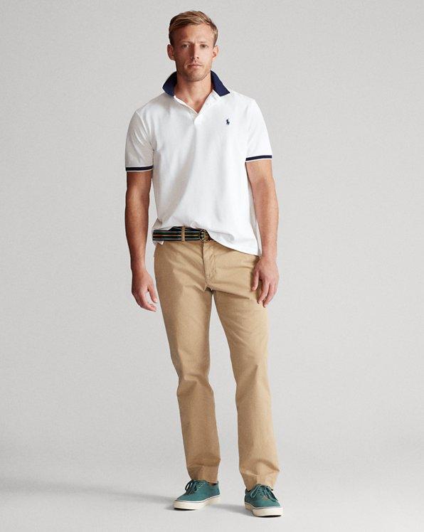 Custom Slim Stretch Mesh Polo