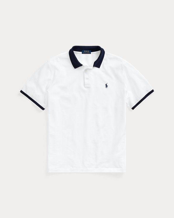 Custom Slim Fit Stretch Mesh Polo Shirt