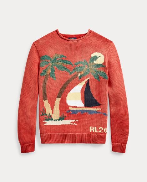 Pullover mit Segelbootmotiv