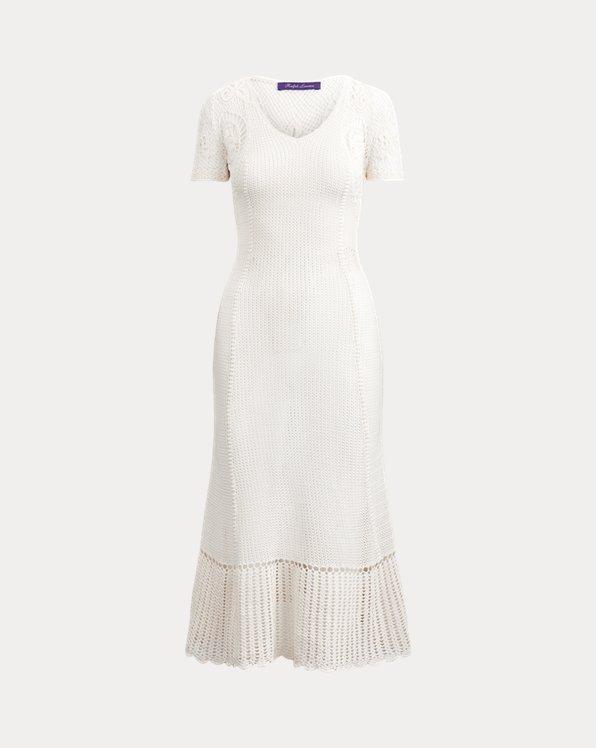 Robe en soie au crochet