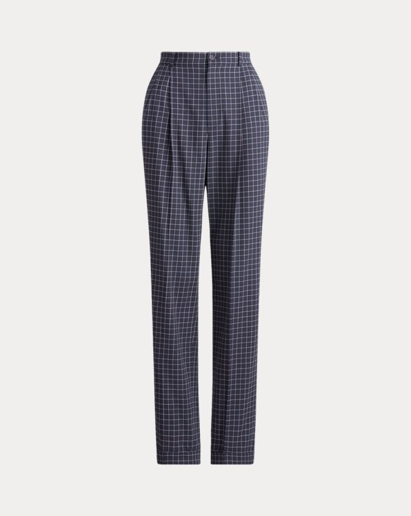 Andela Checked Wool Trouser