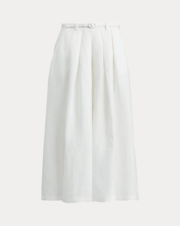 Pantaloni Adrianna in lino a gamba larga