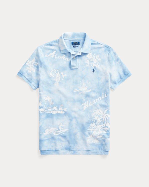 Hawaii-Polohemd aus Piqué