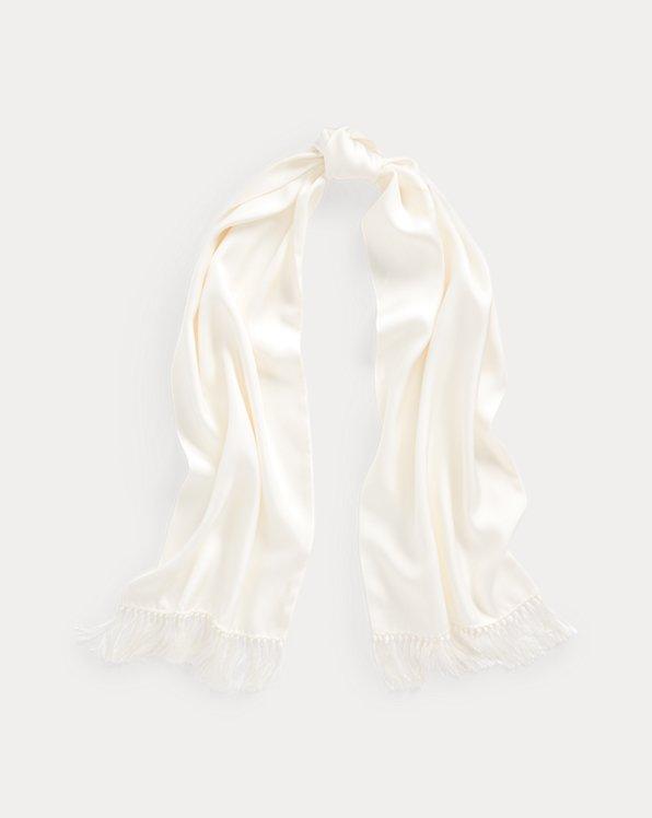 Fringe Silk Twill Scarf