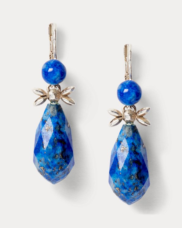 Sterling & Lapis Drop Earrings
