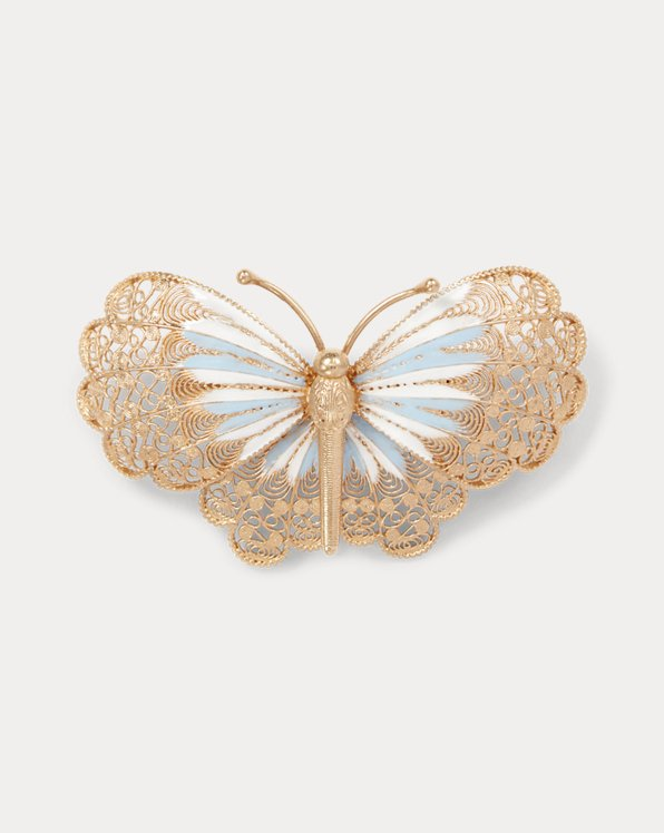 Butterfly Brooch Necklace