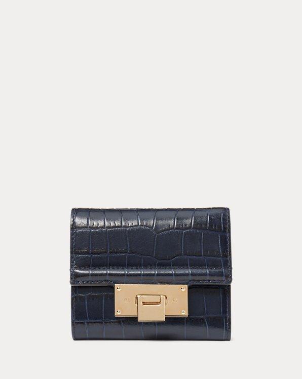 Calfskin Hinge-Lock Wallet