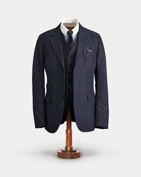 Indigo Denim Suit Jacket