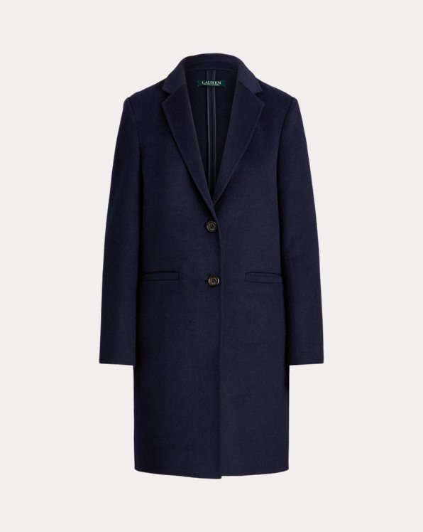 Two-Button Wool-Blend Coat