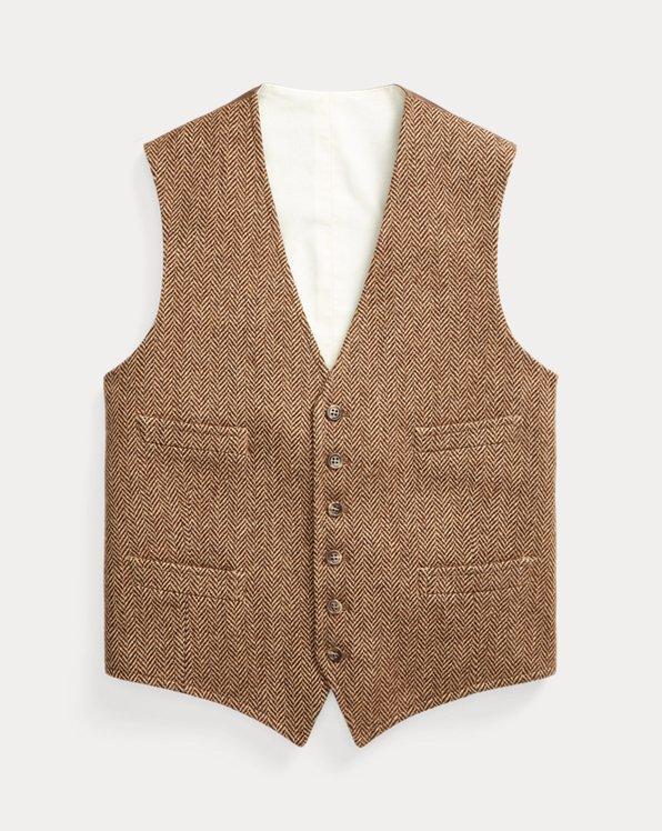 Herringbone Wool Waistcoat