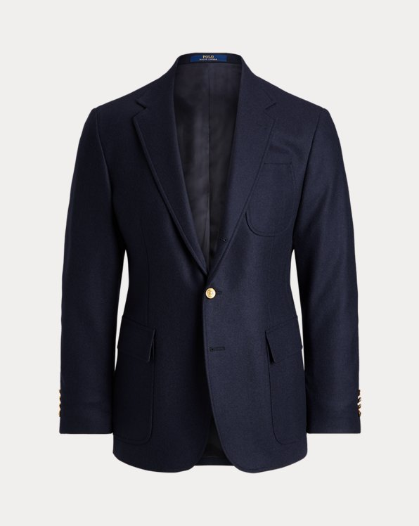 Polo-Blazer aus Stretch-Flanell