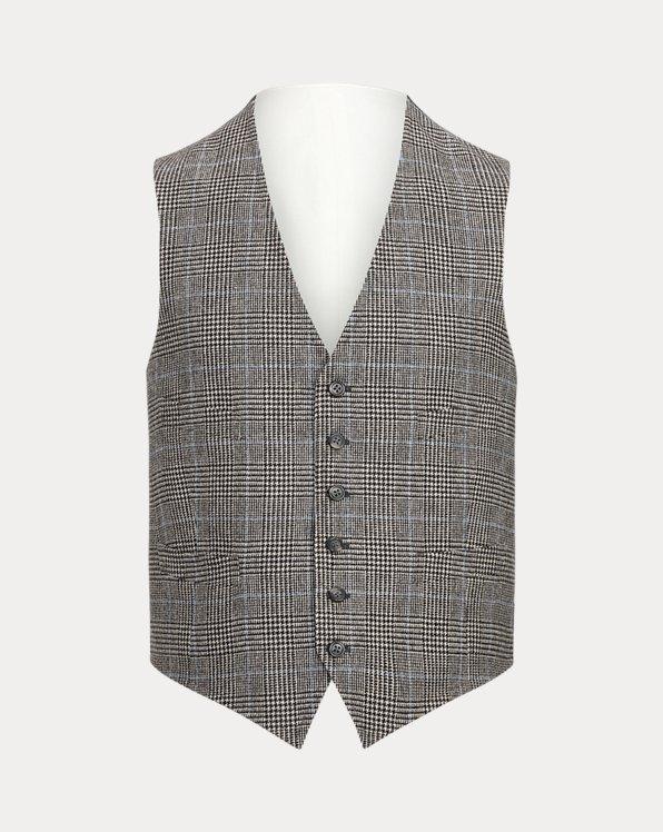 Glen Plaid Wool Waistcoat