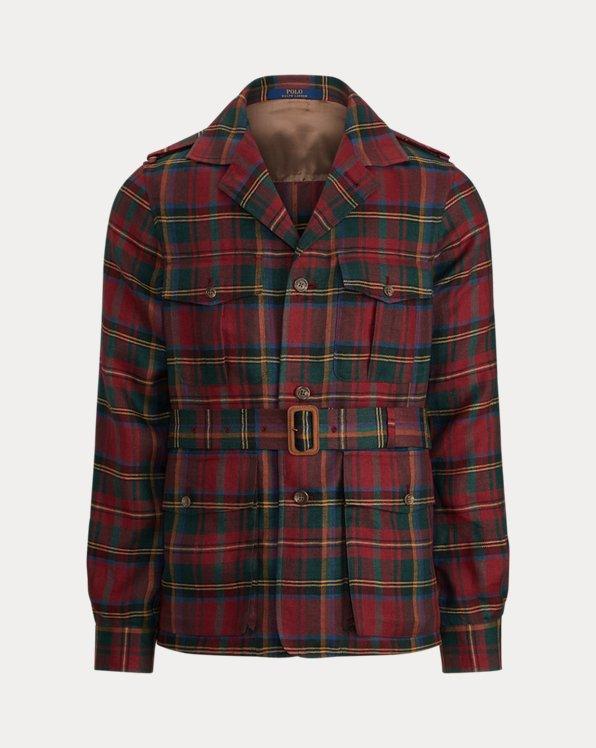 Tartan Linen Safari Jacket