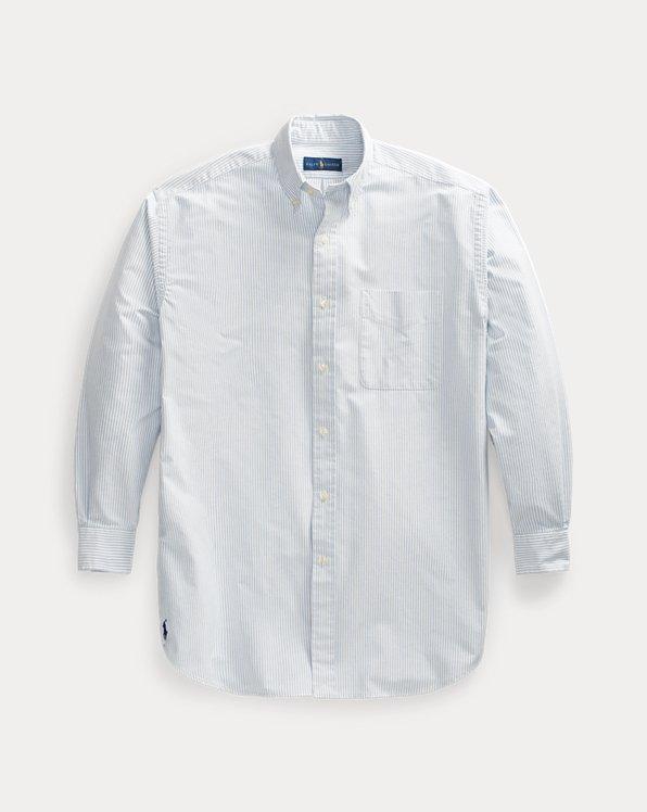 Das gestreifte übergroße Oxfordhemd