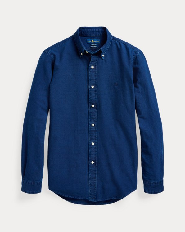 Slim Fit Indigo Oxford Shirt