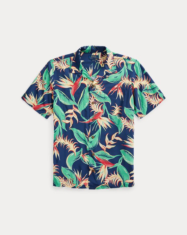 Custom Fit Floral Camp Shirt