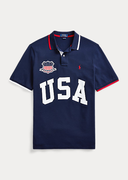 Polo Ralph Lauren The Custom Slim Fit USA Polo Shirt