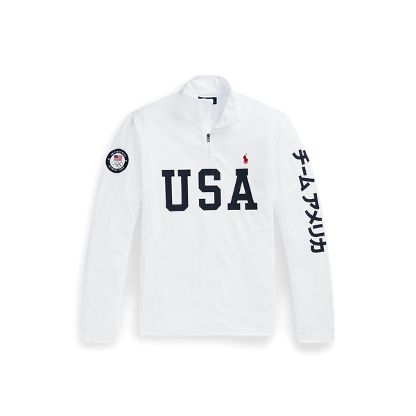 폴로 랄프로렌 Polo Ralph Lauren Team USA One-Year-Out Mesh Pullover,White