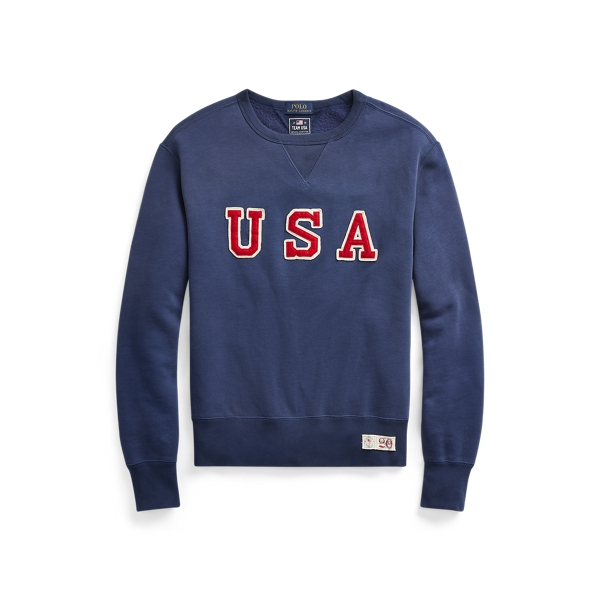 폴로 랄프로렌 Polo Ralph Lauren Team USA One-Year-Out Sweatshirt,Dark Cobalt