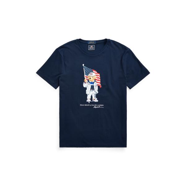 Ralph Lauren Ecofast Pure Team Usa Polo Bear T-shirt In Cruise Navy