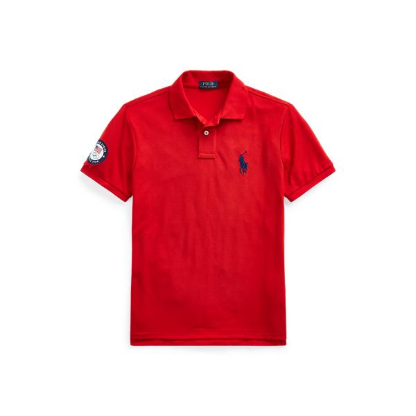 Ralph Lauren Team Usa Earth Polo Shirt In Red