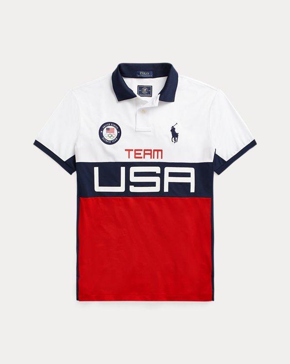 Team USA Stretch Mesh Polo Shirt