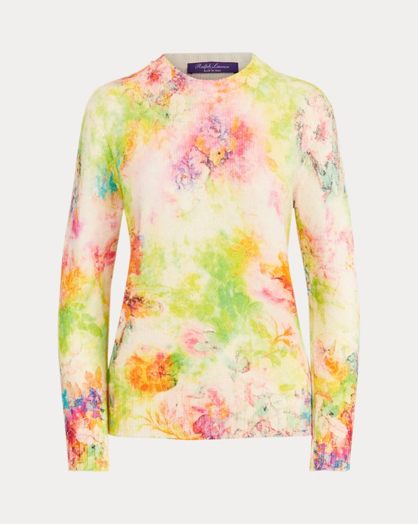 Floral Cashmere Sweater
