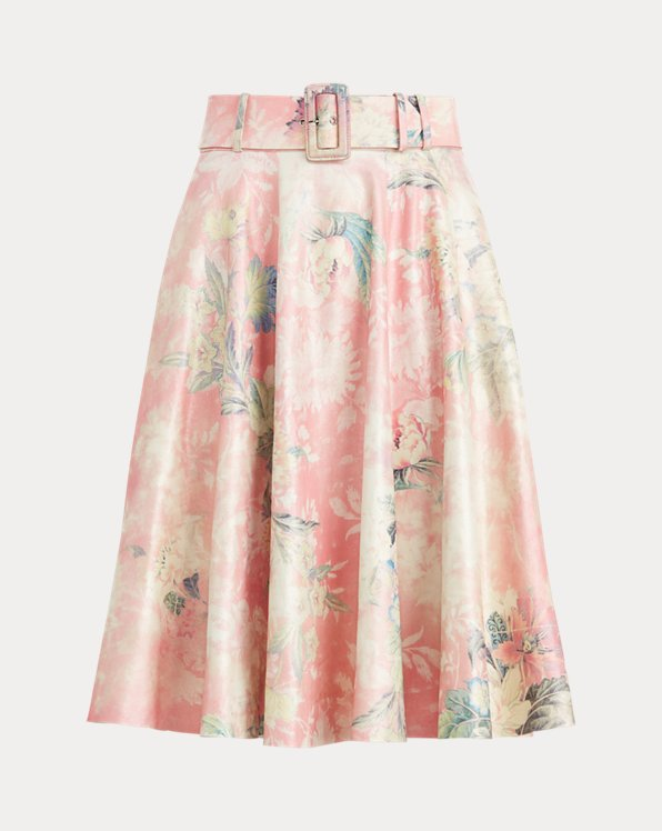 Madelyn Floral Suede Skirt