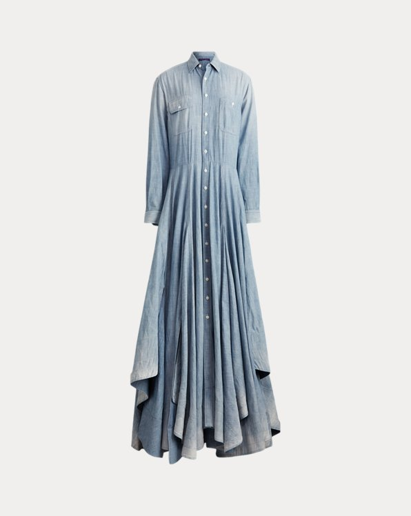 Wen Flag Bear Chambray Dress