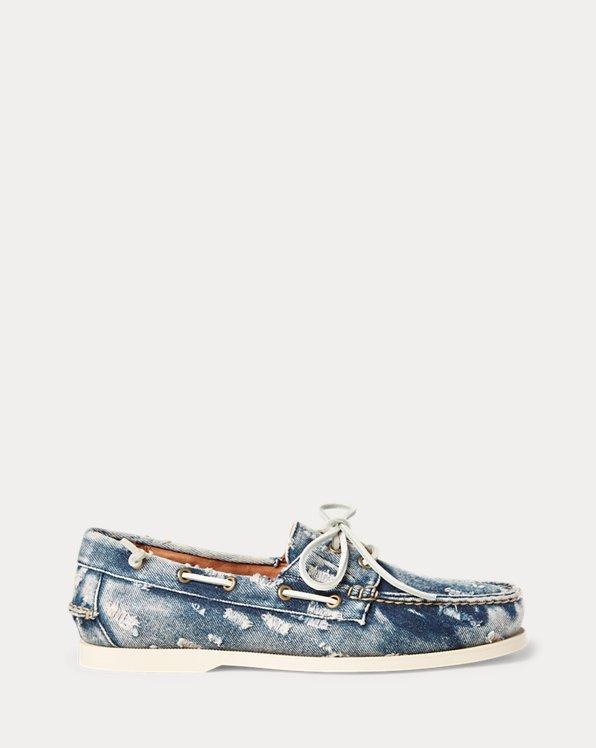 Merton Washed Denim Boat Shoe