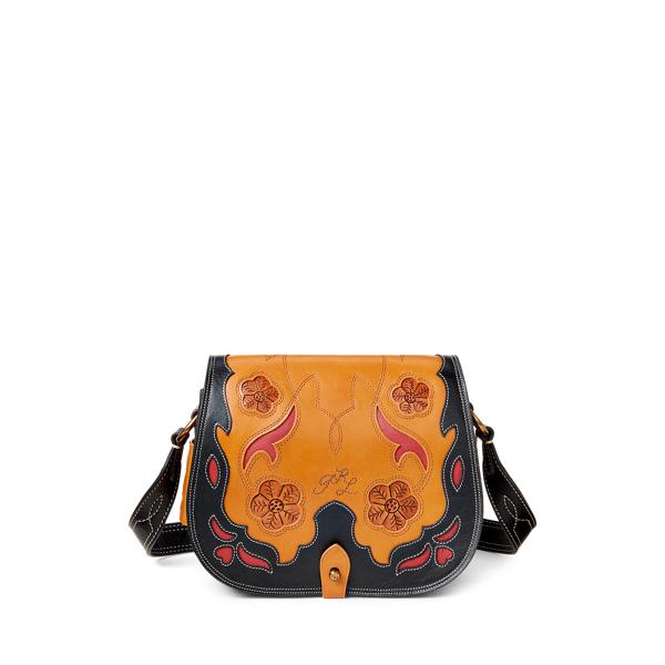 폴로 랄프로렌 Polo Ralph Lauren Leather-Inlay Small Crossbody,Cuoio Multi