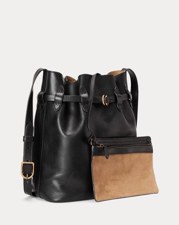 Leather Bellport Bucket Bag