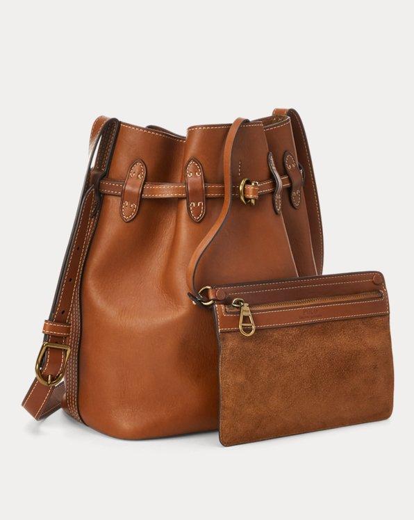 Leather Large Bellport Bucket Bag