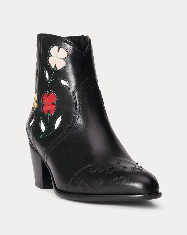Lucille Floral Leather Boot