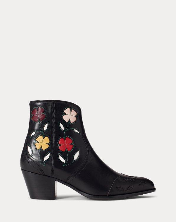 Bottes Lucille en cuir fleuri