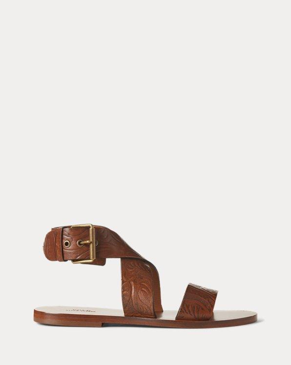 Buckled Leather Sandal
