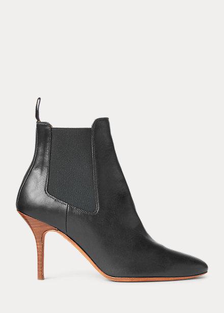 Polo RalphLauren Vachetta Calfskin Kitten-Heel Boot