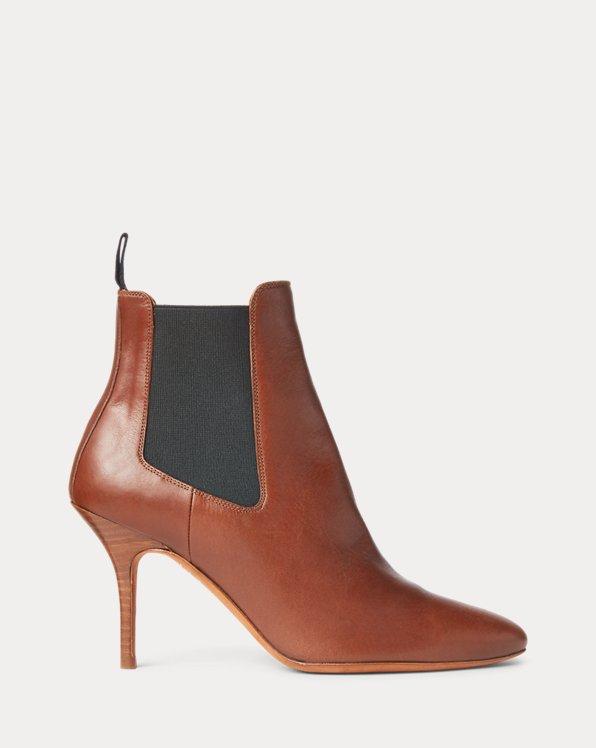 Vachetta Calfskin Kitten-Heel Boot