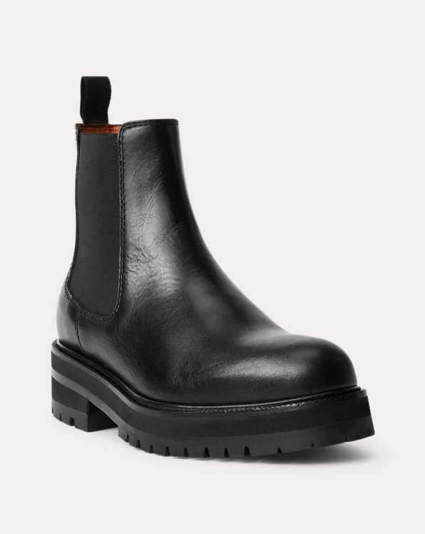 Calfskin Lug Chelsea Boot