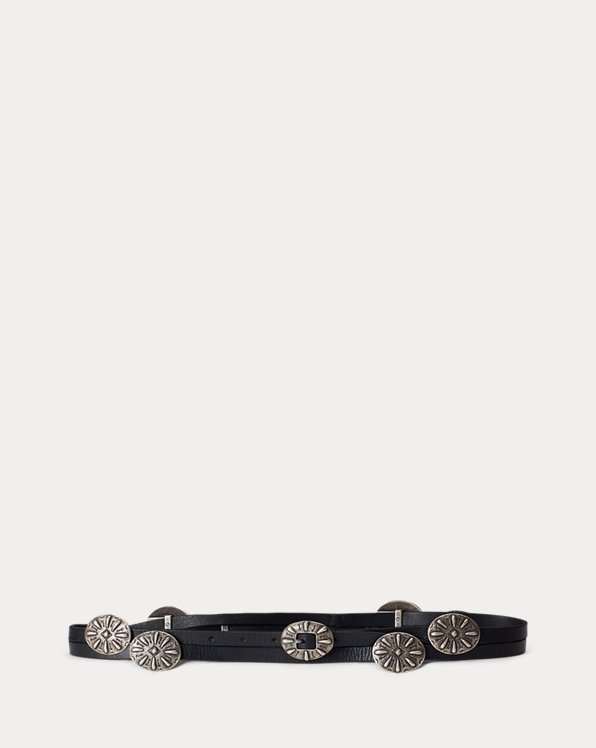 Concho Leather Wrap Belt