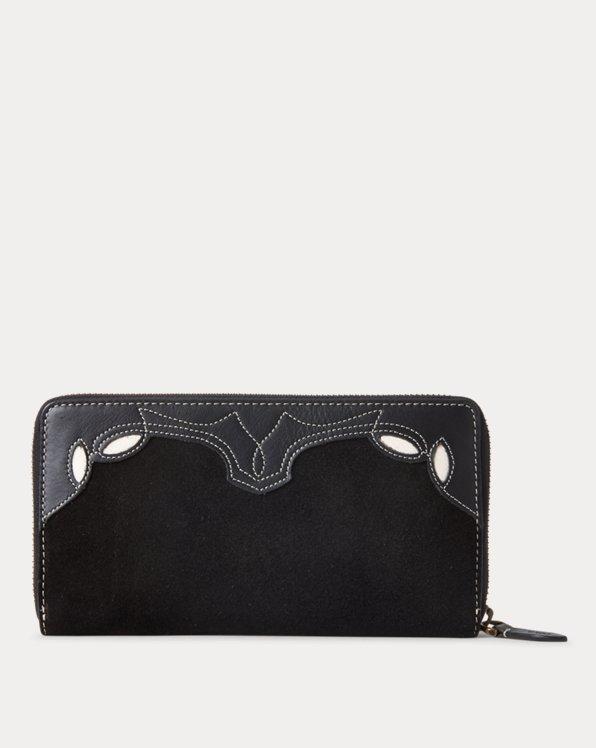 Western Leather Zip Wallet