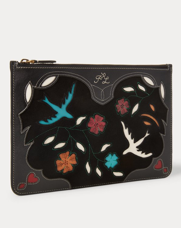 Leather-Inlay Pouch