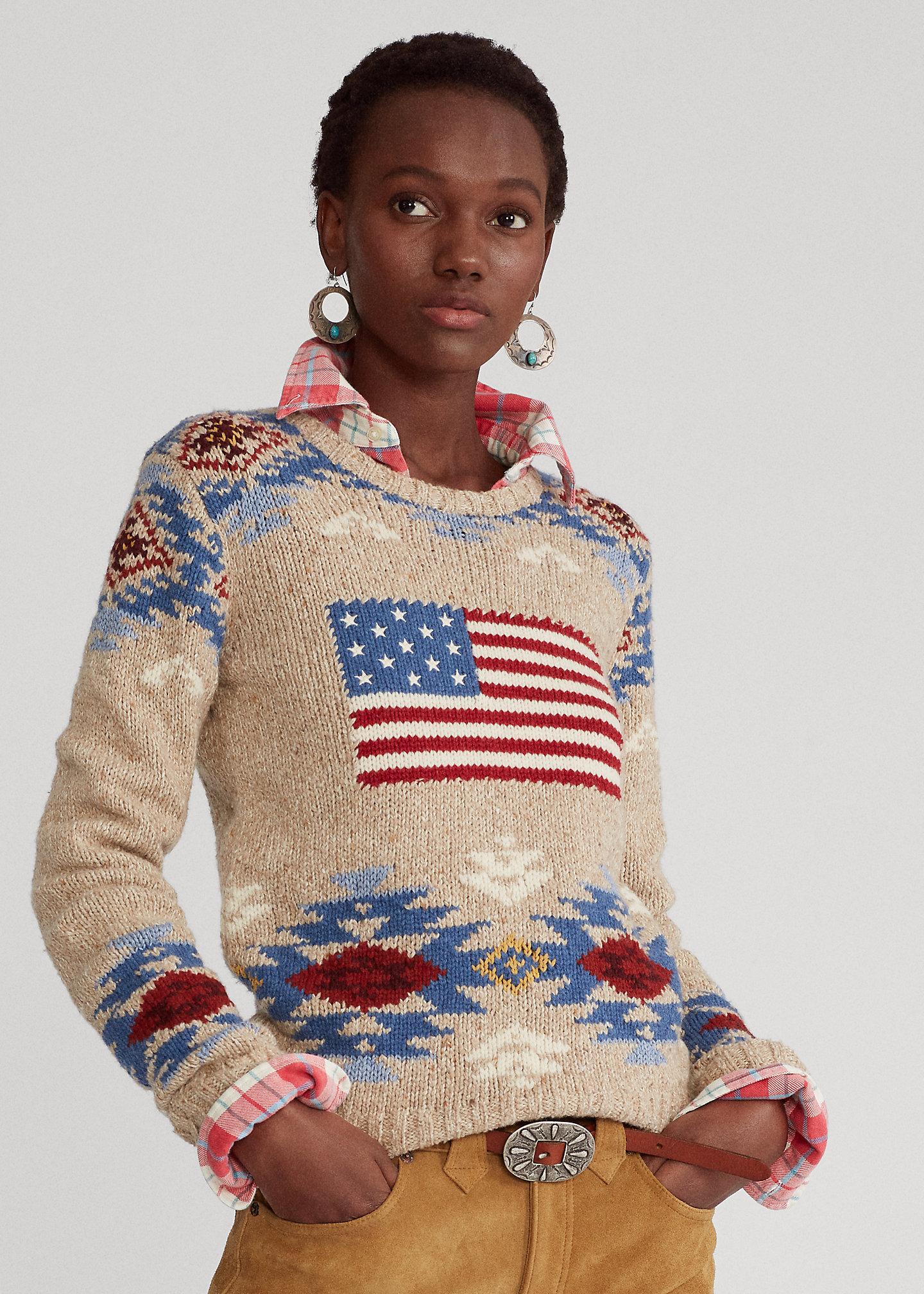Polo Ralph Lauren Maglia in misto lana con bandiera 1