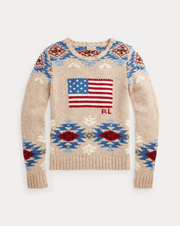 Flag Wool-Blend Sweater
