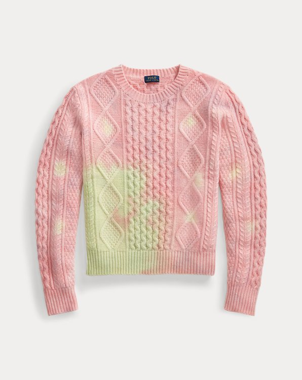 Tie-Dye Cable-Knit Jumper
