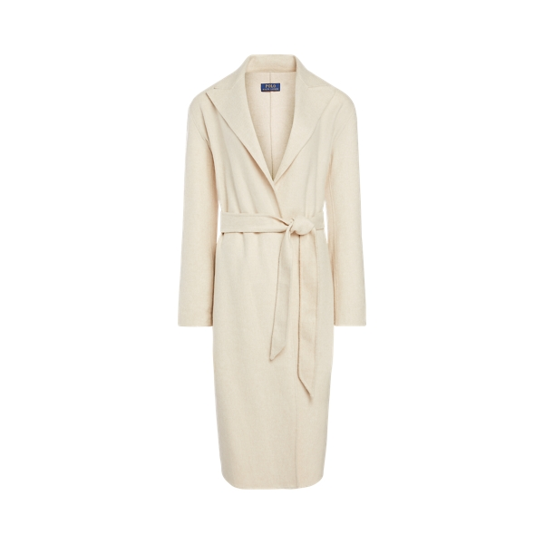 폴로 랄프로렌 Polo Ralph Lauren Wool-Blend Belted Coat,Oatmeal Melange