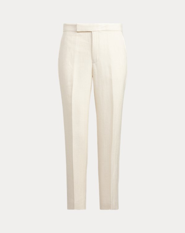 Pantaloni misto lino Straight-Fit
