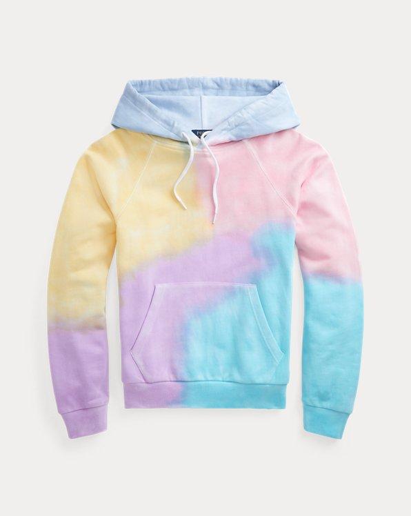 Sudadera con capucha de algodón tie-dye