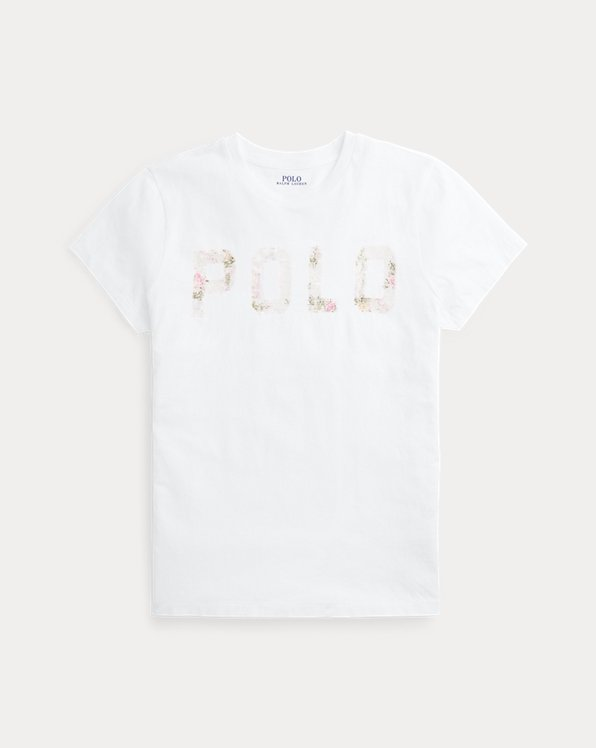 Sequined Logo Cotton Tee
